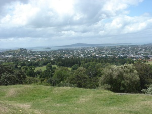 A view from One Tree Hill at Onehunga
